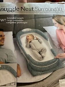 Baby Delight Snuggle Nest Surround XL Grey Clouds