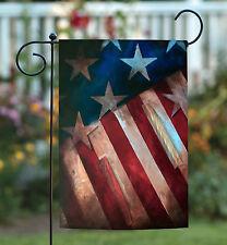 Toland Still Standing 12.5 x 18 Rustic Patriotic America USA Garden Flag
