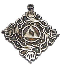 "DESIGNER ""TSG"" ORNATE STERLING SILVER IRISH CELTIC CLADDAGH 1.5"" PENDANT CHARM"