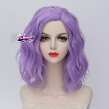 Lolita Heat Resistant Light Purple Ombre Curly Wig Harajuku Gradient Cosplay Wig
