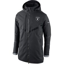 NFL Oakland Raiders Nike 638949 On Field Storm Fit 550 DOWN Coat PARKA Gray 2XL