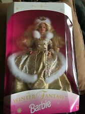 Winter Fantasy Barbie Special Edition Gold Fur Trim Gown 16522 By Mattel ~ New!