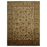 """8' x 11'2"""" Hand Knotted 100% Wool Agra Oriental Area Rug Beige Traditional"""