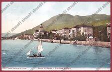 BRESCIA GARDONE RIVIERA 91 BARCA a VELA - LAGO DI GARDA Cartolina VIAGGIATA 1911