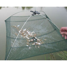 Hot Folded Fishing Net Small Fish Shrimp Minnow Crab Baits Cast Mesh Cage Trap
