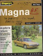 Mitsubishi Magna TN 1987 - 1989 Gregorys Owners Service & Repair Manual
