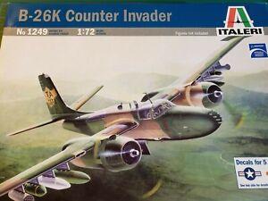 1/72 1249 ITALERI B-26K COUNTER INVADER SEA VIETNAM NOSE ART DECALS RARE