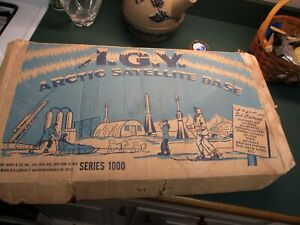 Marx I.G.Y. Artic Satellite Base Play Set WITH Box #4800