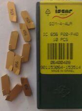 ISCAR GIM 4 4LA IC656 Carbide Inserts Grooving 10Pc Self Grip Cut Off Lathe Gold