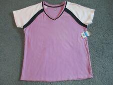 NWT, SB ACTIVE Size Large (12) Purple Cotton V-Neck Top