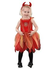 BABY GIRL FANCY DRESS TODDLER HALLOWEEN RED DEVIL COSTUME 1 TO 2 YEARS BRAND NEW