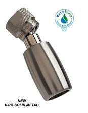 High Sierra's 1.5 GPM Solid Metal Low Flow Shower Head: Brushed Nickel