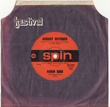 ROBIN GIBB (BEE GEES) - AUGUST OCTOBER Very rare 1970 Aussie Single Release!