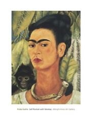 Frida Kahlo Self-Portrait with Monkey, 1938 Unframed Poster Print (16 x 20)