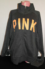 Victoria's Secret PINK Full Zip Track Jacket *New w/o Tag* Dark Grey *Large*
