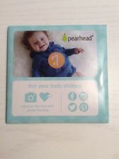 NEW PEARHEAD Baby's First Year Belly Milestone Stickers Baby Age By Month Photo