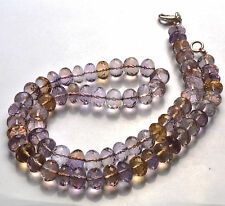 """16"""" Finest Natural Ametrine Faceted Rondelle BEADS NECKLACE 6 TO 7 MM"""