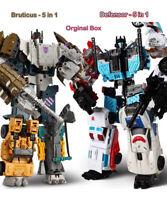 Transformers Defensor(5in1) Bruticus(5in1) Complete Combiner Wars Figure Toys