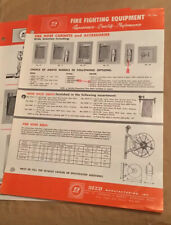 Vintage Seco Manufacturing Fire Fighting Equipment Brochures 1971
