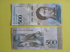 Billet de 500 bolivares du Vénézuela