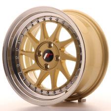 1 jante alu Japan Racing JR26 16x8 ET30 4x100 Gold avec bague 67,1