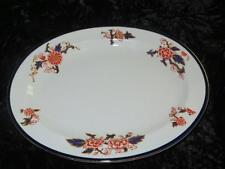 VINTAGE BOOTHS CHINA Oval Serving Dish 3280 Cobalt & Rust Transfer Pattern 1928