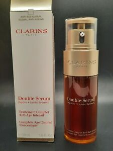Clarins Double Serum Complete Age Control Concentrate 1.6oz/ 50ml NIB