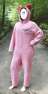 "A Christmas Story ""Deranged Easter Bunny"" Pink Fleece One-Piece Costume Pajamas"