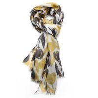 Tulip Tulips Floral Flowers Blue Grey Mustard Yellow Pink White Ladies Scarves