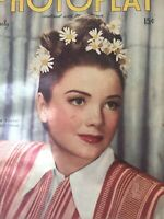 Vintage Collectible Movie Magazine Photoplay Anne Baxter Cover July 1945