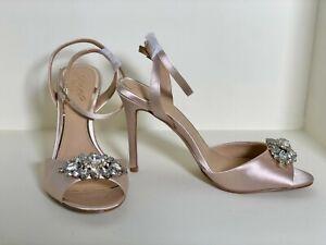 Badgley Mischka 'Hayden' Peep Toe Evening/Wedding Shoes Size 5.5 -6 UK Champagne