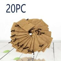 20pcs Burlap Jute Hessian Wedding Party Storage Bag Drawstring Harness Pouch New