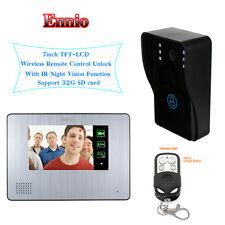 """Ennio 7""""LCD Color Video Door Phone Doorbell IR Night Vision Cam W/Remote Control"""
