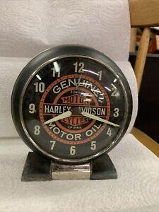 harley davidson motor oil alarm clock