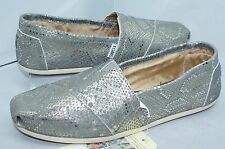 New Toms Women's Shoes Classics Flats Size 10 Slippers Metallic