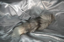 Black and Silver Fox tail magnetic anal butt plug attachment