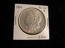 1901 Morgan Silver Dollar Antique Vintage Coin AU+