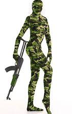 Lycra Ganzanzug Catsuit Overall Camouflage