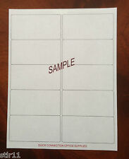 "250 Blank Shipping Labels  2"" x 4"" - ( 10 Per Sheet )  ""FREE SHIPPING"""