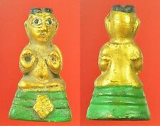 GENUINE Kumanthong LP.Tae TEH Wat Samngam Sacred Magic Spirit Rich Luck Statue