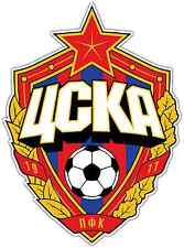 "PFC CSKA Moscow Moskva Russia Football Soccer Car Bumper Sticker Decal 4""X5"""