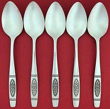 NEW Set 5 Oneida ROSE PENDANT Distinction Deluxe HH Dessert Tea Spoon TEASPOONS