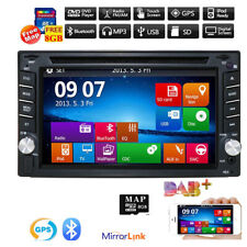 "6"" 2 Din Car DVD SD Player GPS Navigation BT Radio HD Entertainment System Unit"