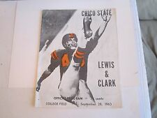 1963 CHICO STATE (CSU) VS LEWIS & CLARK COLLEGE FOOTBALL PROGRAM - TUB BN-16