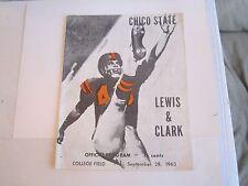 1963 CHICO STATE (CSU) VS LEWIS & CLARK COLLEGE FOOTBALL PROGRAM - TUB BN-16