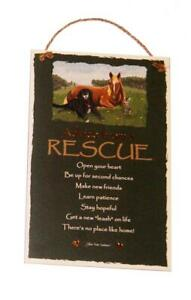 "Advice from a Rescue Dog Cat Horse Inspirational 5.5""x8.5"" Wood Sign for Wall"