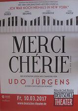 Udo Jürgens  - Merci Cherie  - Tourposter/Tourplakat 2017 - München