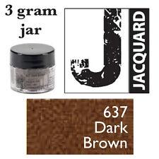 Pearl Ex Mica Powdered Pigments - 3g bottles - DARK BROWN 637