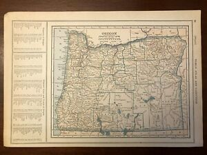 1927 Oregon Map New World Atlas and Gazetteer
