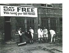 8x10 photo Golf while getting your suit pressed in the 1920s